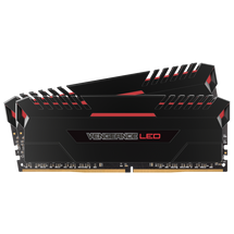 Corsair Vengeance Red LED 16GB (2 x 8GB) DDR4 DRAM 2666MHz Memory Kit
