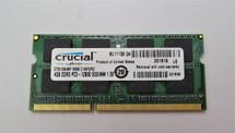 Crucial 4GB Single DDR3 PC3 12800 Soddim Laptop Memory
