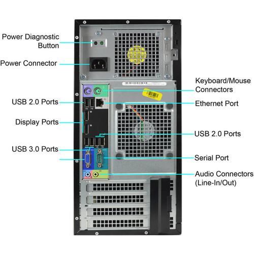 Dell Optiplex 7010 Quad Core i7 Tower Windows 7 Computer