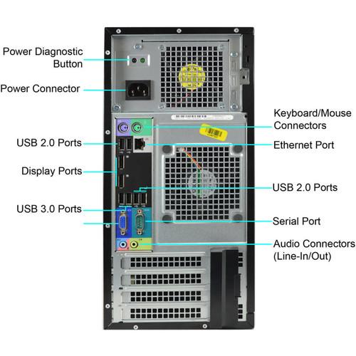 Dell Optiplex 7020 i5-4590 Tower Windows 10 Pro Computer