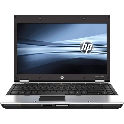 HP EliteBook 8440P i5 Windows 7 Pro Laptop front view.