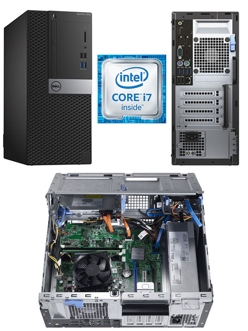 Dell Optiplex 7040 MT i7-6700 Mini Tower Win 10 Pro Computer Main