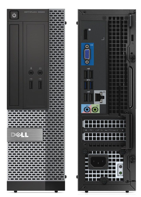 Dell Optiplex 3020 i5 SFF Computer Windows 10 front and back.