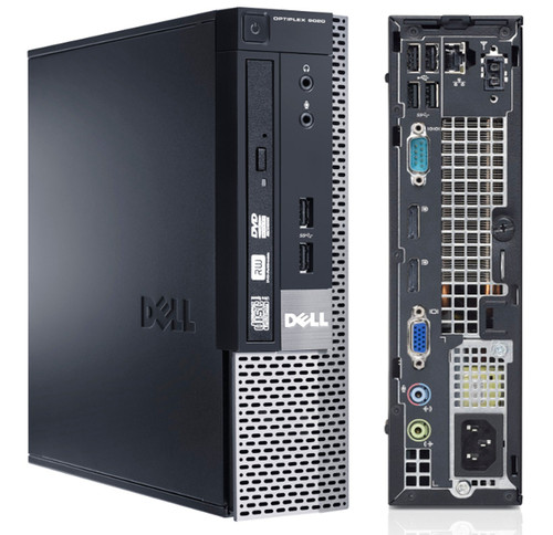 Dell Optiplex 9020 Ultra Small Form Factor Front and Back View