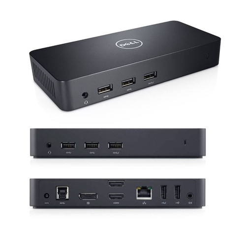 Dell D3100 USB 3.0 UHD 4K Triple Video Docking Station