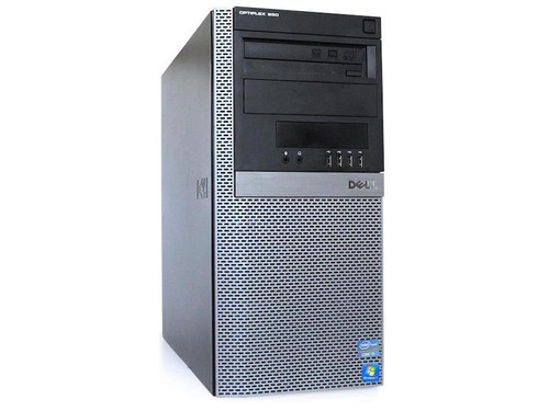 Dell i5 Optiplex 980 Tower Windows 7 Pro Computer  front view.