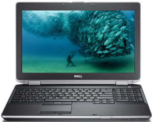 "Dell Latitude E6530 i5 15"" Laptop Windows 7 Pro Front View"