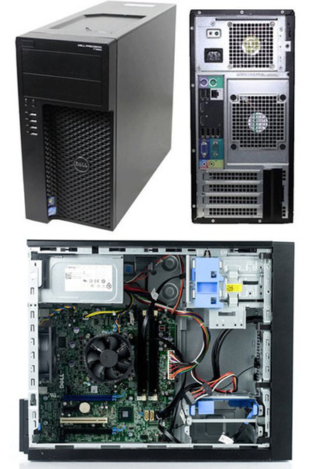 Dell Precision T1650 Xeon-E3-1220 Windows 7 Pro Workstation Main