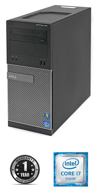 Dell Optiplex 390 MT Core i7 Windows 7 Pro Computer