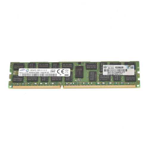 WWW.discountelectronics.com 2RX4 PC3L-10600R-09-11-E2-P2 Size: 8GB Rank: Dual Rank Speed: 10600 Low Voltage Type: Registered Model: M393B1K70DH0-YH9Q9 HP Part Number: 647650-071