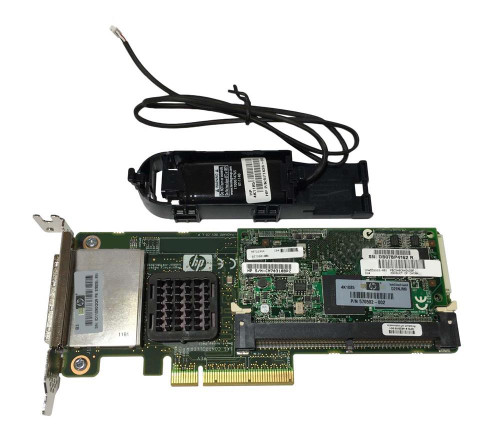 www.discountelectronics.com Bus Type: PCI EXPRESS X8 Data Transfer: 300 MBPS Supported Raid Levels: RAID 0, RAID 1, RAID 1+0, RAID 5, RAID 5+0 CACHE MEMORY: 512 MB FLASH BASED WRITE CACHE PART# 578882-001 Form Factor: Full Height HP Part Number: 578299-B21 HP Spare Part Number: 462918-001 Battery Part Number: 571436-002 Battery Housing: 571436-002