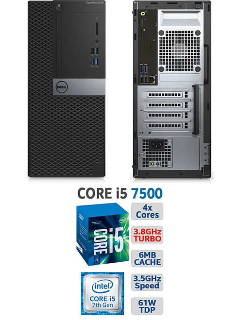 Dell Optiplex 3050 SFF 7th Gen i5 Computer Windows 10 Main