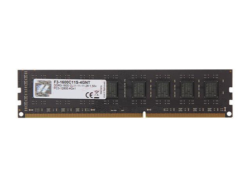 G.SKILL Value 4GB 240-Pin DDR3 1600 (PC3 12800) Desktop Memory