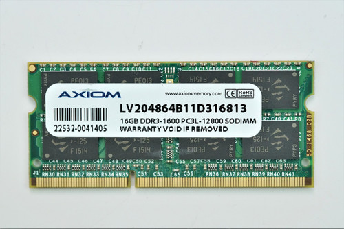 Axiom 16GB DDR3L 204-pin 1600 MHz PC3L-12800 Laptop Memory