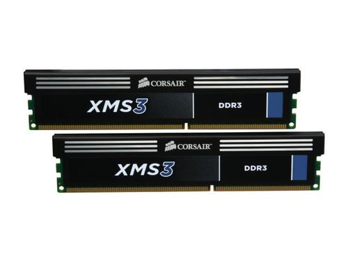 CORSAIR XMS3 8GB (2 x 4GB) 240-Pin DDR3 SDRAM DDR3 1333 (PC3 10600) Desktop Memory