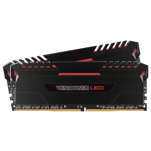 Corsair Vengeance Red LED 16GB (2 x 8GB) DDR4 DRAM 2666MHz Memory Kit