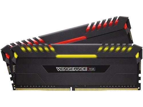 CORSAIR Vengeance RGB DRAM 16GB (2 x 8GB) DDR4 2666 (PC4-21300) C16 - Intel 100/200 Series Desktop Memory