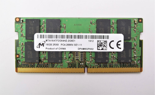 Micron 16GB DDR4 PC4-2666V MTA16ATF2G64HZ-2G6E1 Laptop Memory