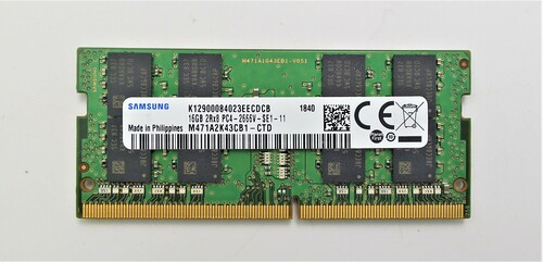Samsung 16GB DDR4 PC4-21300 2666MHz 260 PIN Laptop Ram Memory