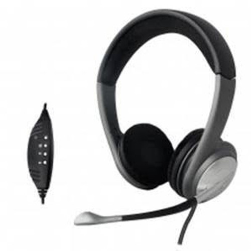 USB Stereo Headphone Headset with Built-in Microphone