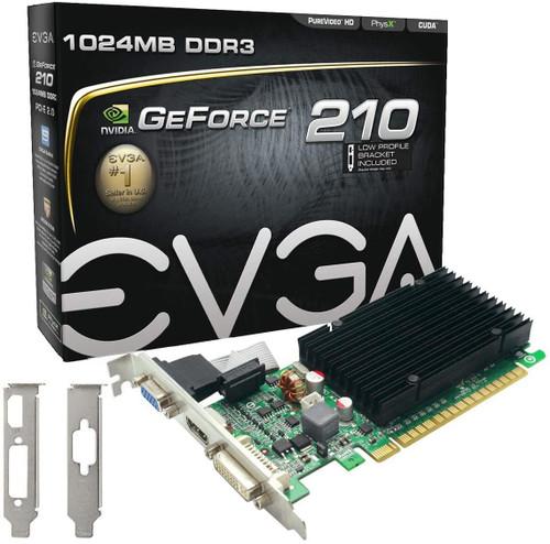 EVGA GeForce 210 1024 MB DDR3 PCI Express 2.0 Graphics Card