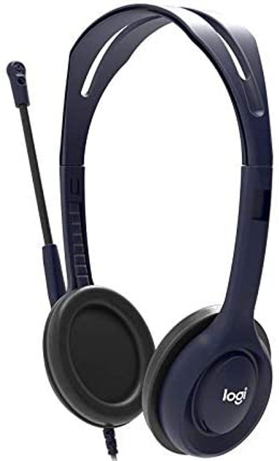 Logitech 991-000289 Wired 3.5mm Headset With Microphone