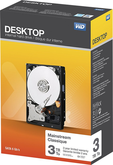 WD - Mainstream 3TB Internal Serial ATA Hard Drive for Desktops