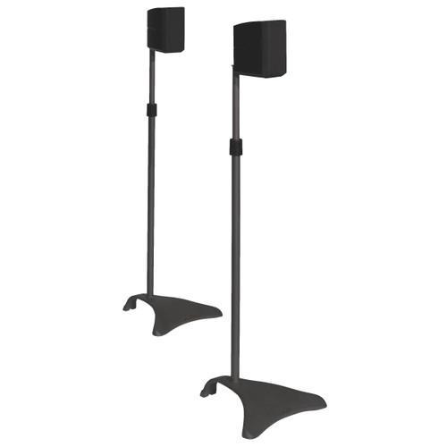 Satellite Speaker Titanium Adjustable Height Stands (Pair)