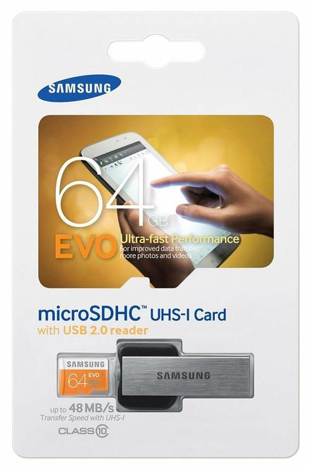 Samsung EVO 64 GB microSDXC Card (USB 2.0)