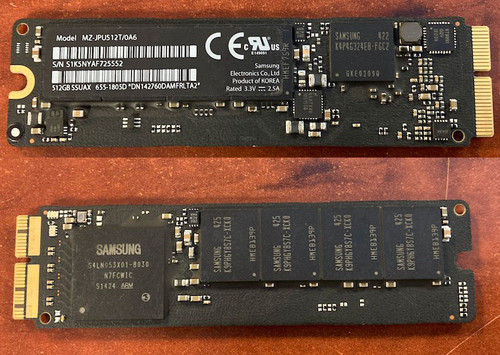 Apple 512gb SSD - 655-1805D for specific Apple Mac laptops only.  Will not work in anything but what is listed.