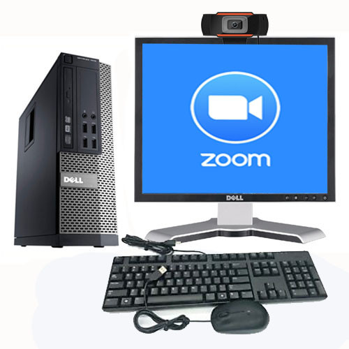 Zoom Computer Package PC Monitor Mic Speakers Ready to Work From Home