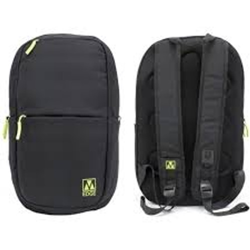M-edge Tech Backpack with 6000 mAH Power Bank front and back