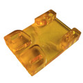 Tunnel Risers for eSk8 wire routing - Yellow