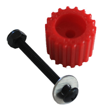 PSD KoMotion FootStop, Red Comes with a nut, bolt, washer & 2 stickers