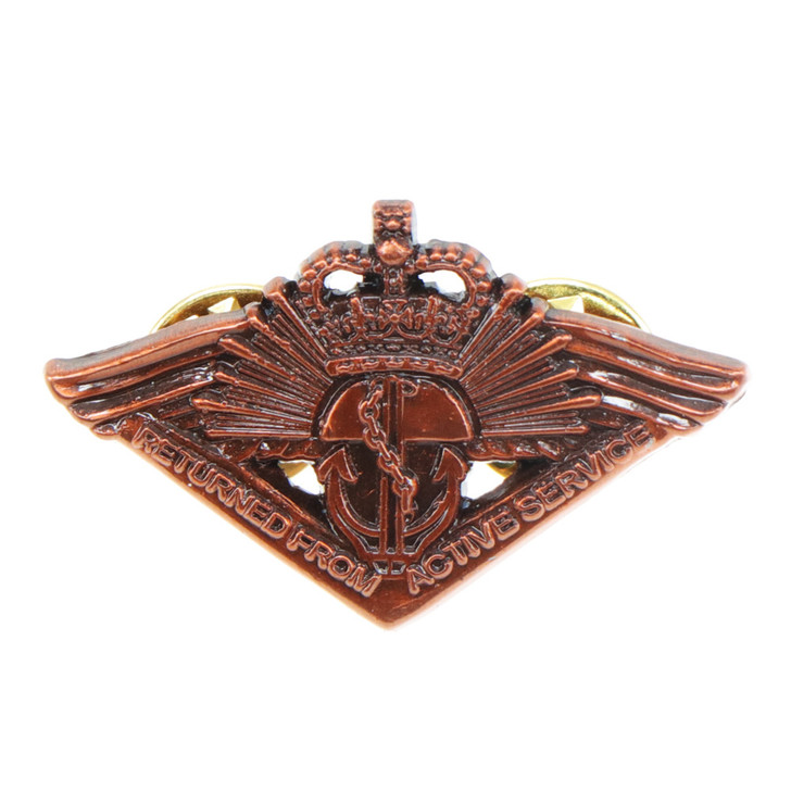 Return from Active Service Badge (QC) w/Clutch Pin