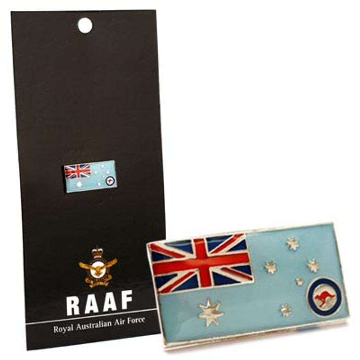 Air Force Ensign Lapel Pin On Card