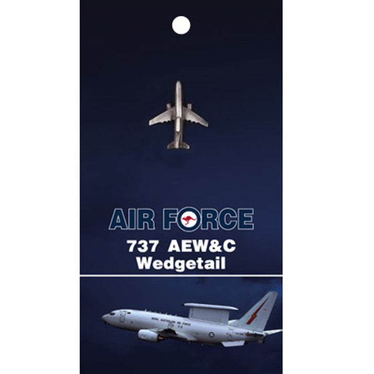 737 AW&C Wedgetail Lapel Pin On Card