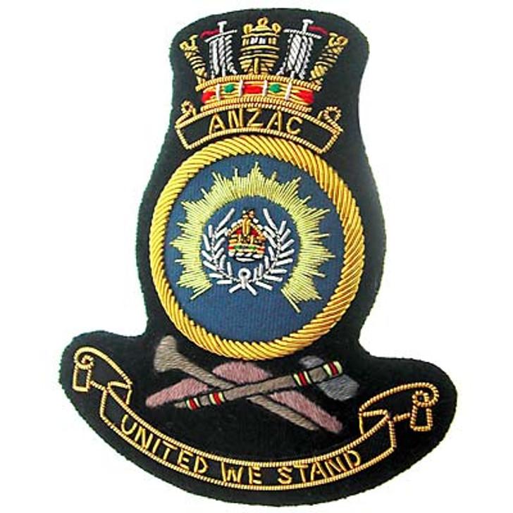 HMAS Anzac Bullion badge