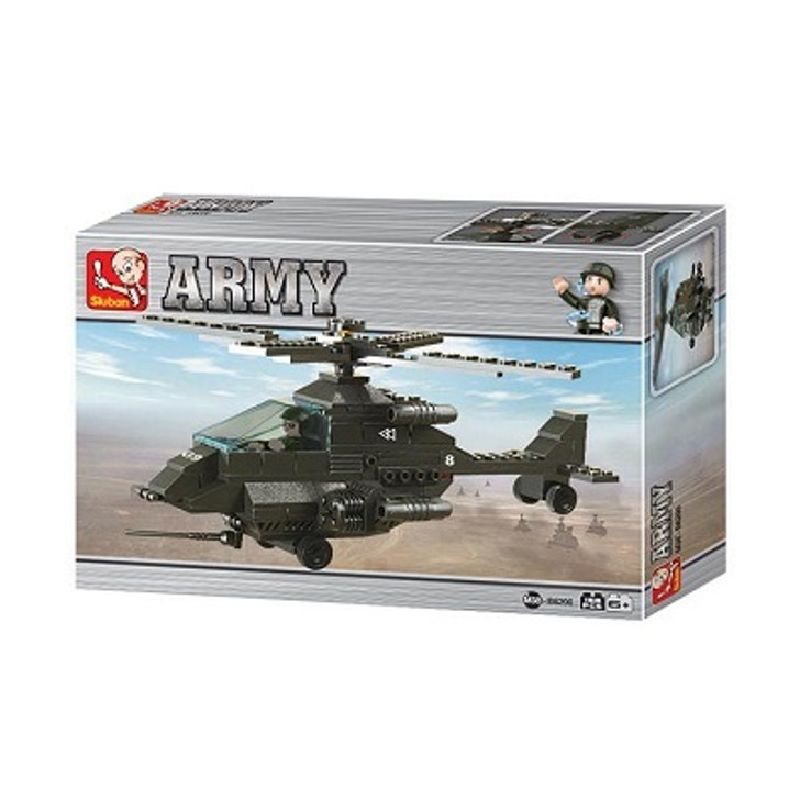 Army Apache Helicopter 158 Pcs Construction Set