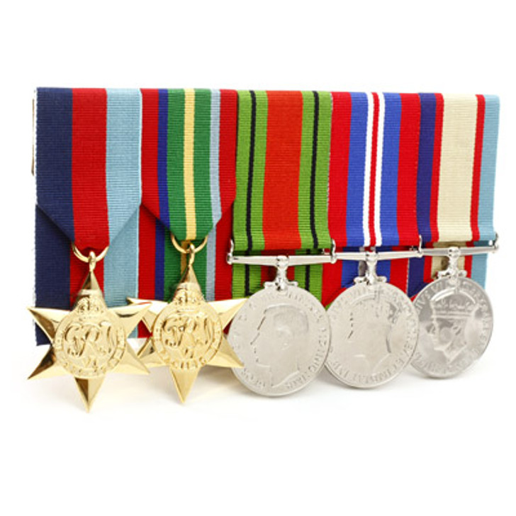 WW2 Pacific 4+Defence Medal Court Mounted