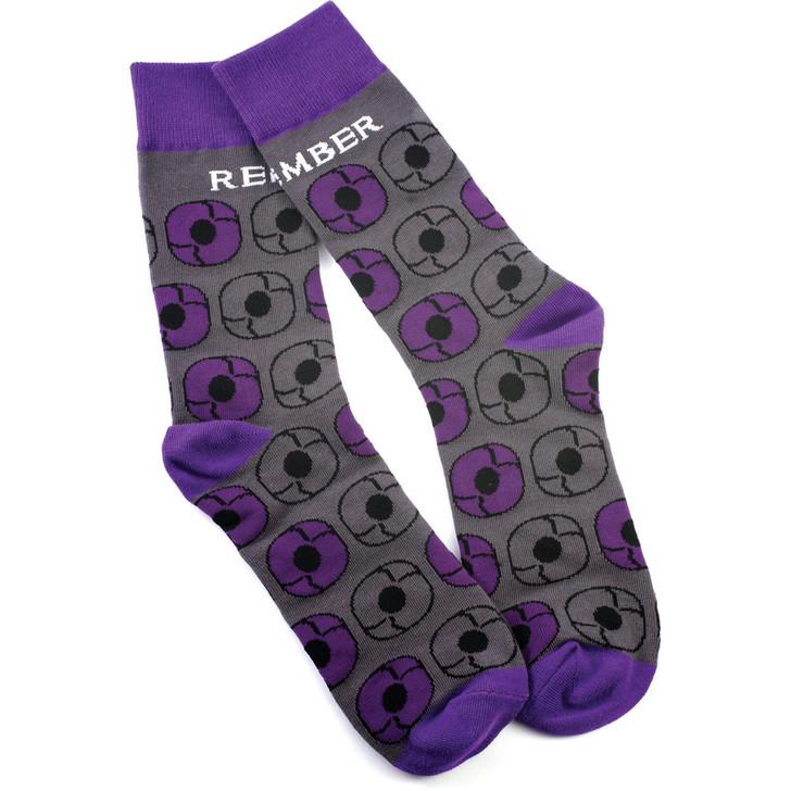 Purple Poppy Socks
