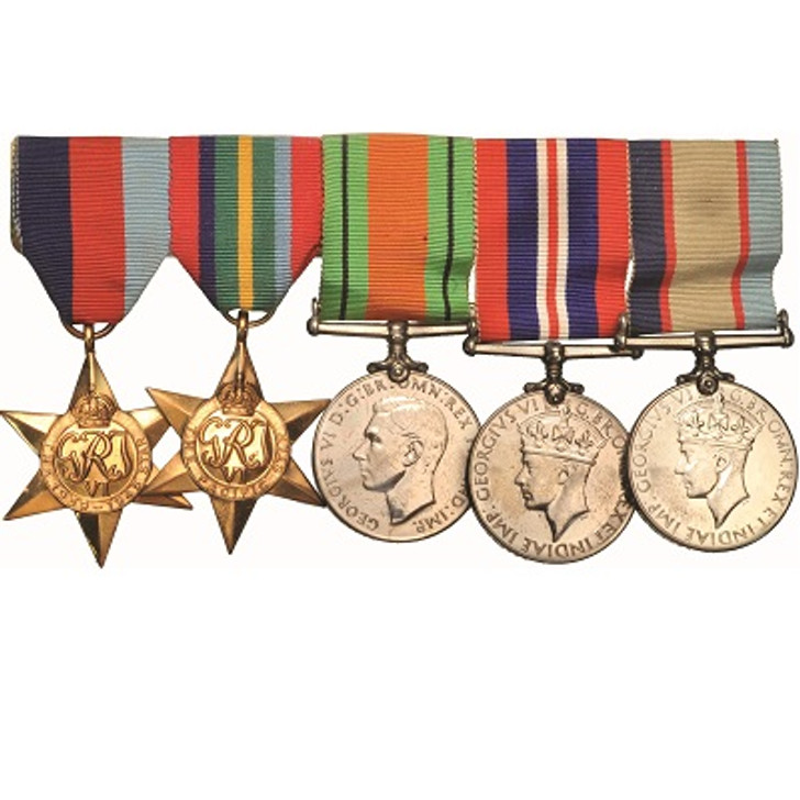 Mini WW2 Pacific 4+Defence Medal Swing Mounted