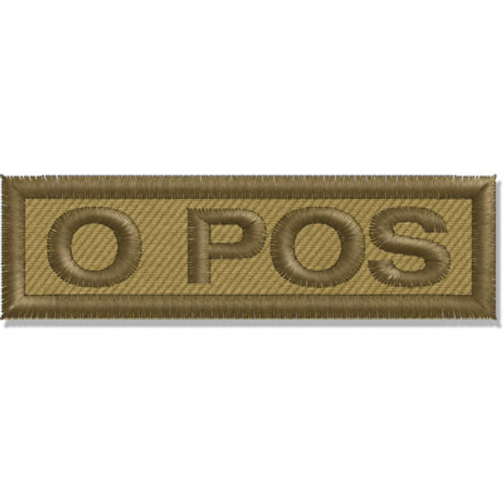 Contact Gear Blood Group Patch O Pos