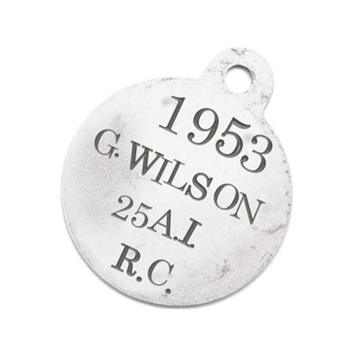 xFREE Sgt Grey Wilson - the Greatcoat Bear ID Tag
