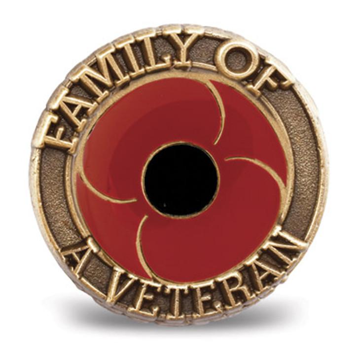 Family of A Veteran Poppy badge