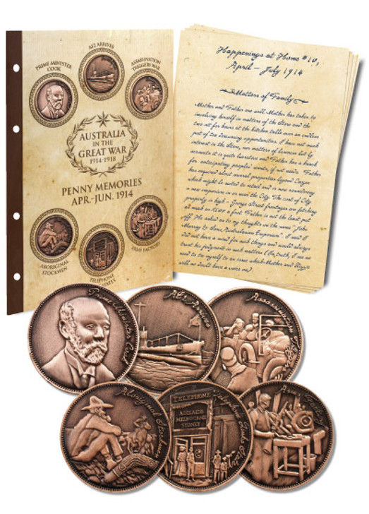 Great War 1914 S2 Penny Set w/Diary pages