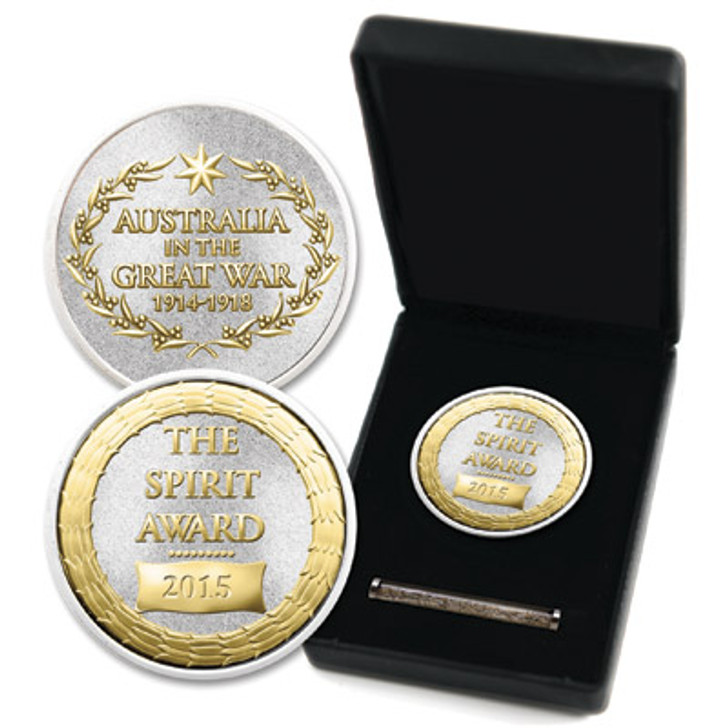 The Spirit Award Medallion In Box With Sand