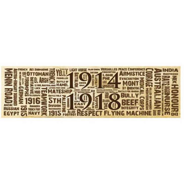 Great War Word Art Sticker - Sepia