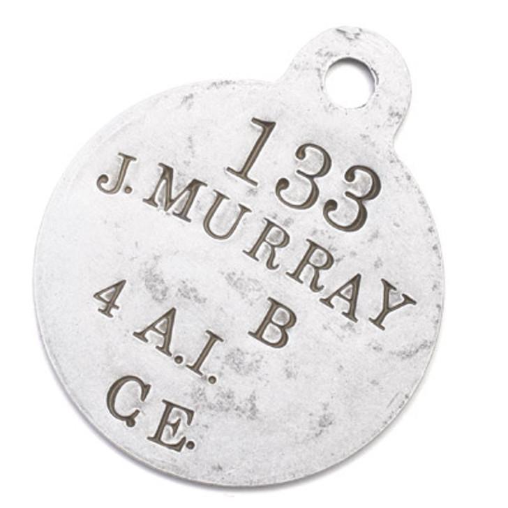xFREE John Murray - the Diggers Bear ID Tag