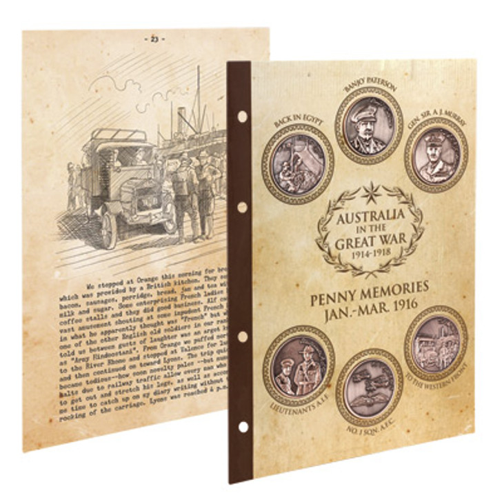 Great War 1916 S1 Penny Set w/Diary pages